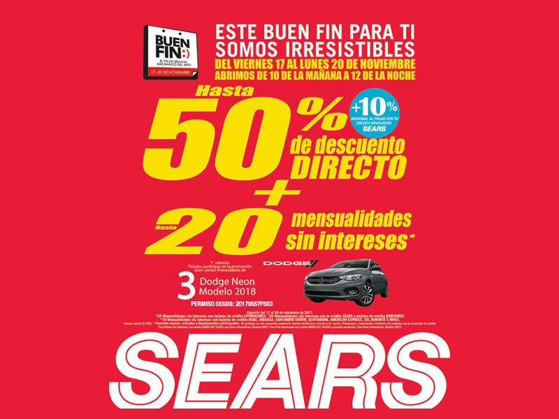 Sears en el Buen Fin 2017: Catálogo de ofertas y promociones - sears-buen-fin-2017-800x600