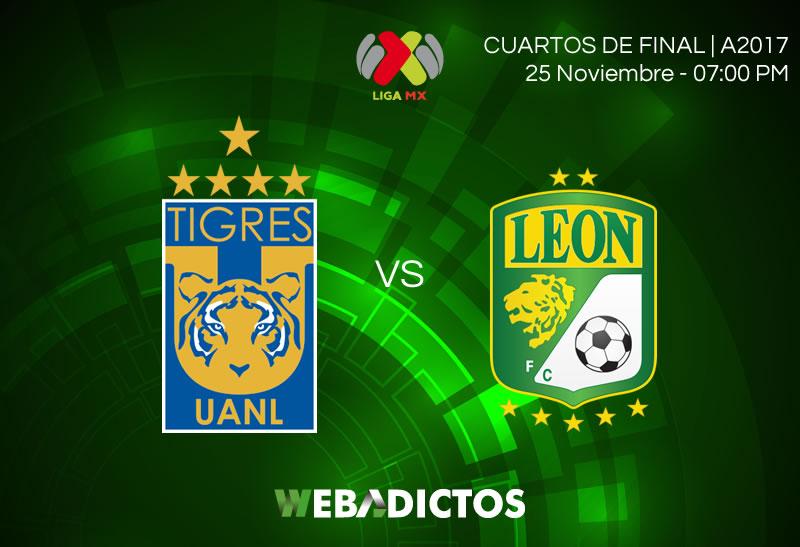 Tigres vs León, Liguilla Apertura 2017 ¡En vivo por internet! | vuelta - tigres-vs-leon-liguilla-apertura-2017-800x547