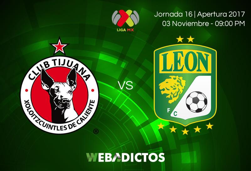 Tijuana vs León, Jornada 16 del Apertura 2017   Resultado: 2-1 - tijuana-vs-leon-jornada-16-apertura-2017-800x547