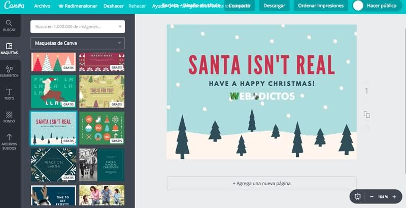 Tarjetas de navidad 2018 para imprimir o enviar por redes sociales - crear-tarjetas-navidad-2017-800x410