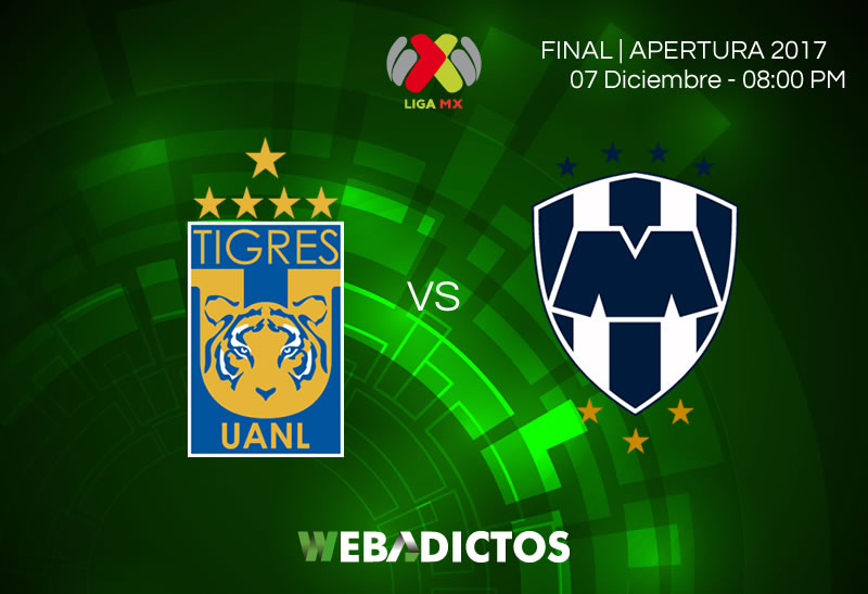 Tigres vs Monterrey, Ida de la Final Apertura 2017   Resultado: 1-1 - tigres-vs-monterrey-final-apertura-2017-800x547