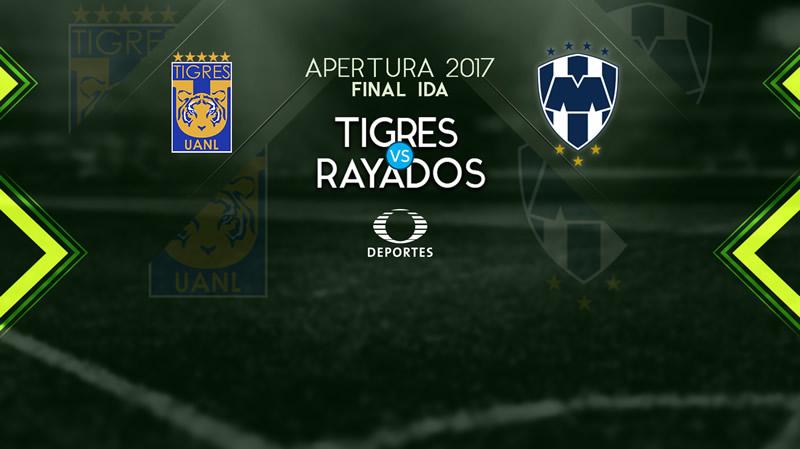 Tigres vs Monterrey, Ida de la Final Apertura 2017   Resultado: 1-1 - tigres-vs-rayados-final-apertura-2017-800x449