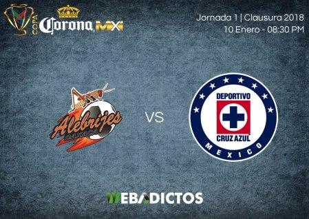 Alebrijes vs Cruz Azul, Jornada 1 Copa MX C2018 ¡En vivo por internet!