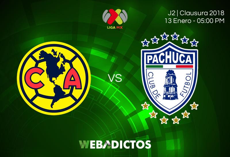 América vs Pachuca, Jornada 2 Clausura 2018 | Resultado: 2-2 - america-vs-pachuca-clausura-2018-jornada-2-800x547
