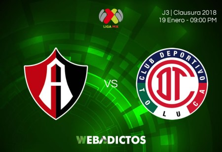 Atlas vs Toluca, Liga MX Clausura 2018 ¡En vivo por internet!