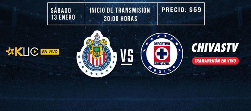 Chivas vs Cruz Azul, J2 del Clausura 2018 | Resultado: 1-3 - chivas-vs-cruz-azul-chivas-tv-clausura-2018-800x353