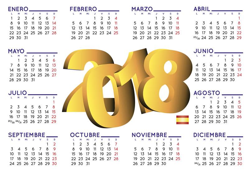 Calendario 2018, crea calendarios para imprimir en línea ¡gratis! - crear-calendario-2018-en-linea-800x566