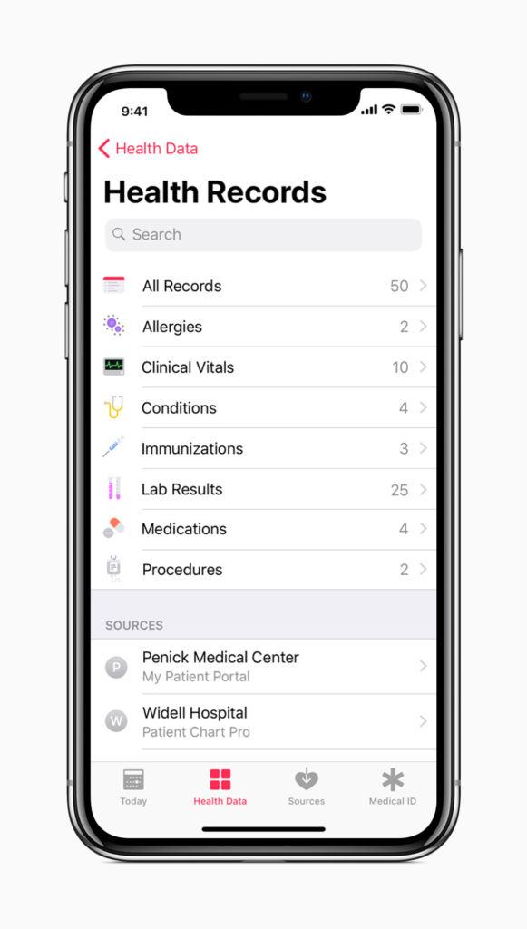 Con iOS 11.3, los usuarios de iPhone podrán desactivar la reducción del desempeño del procesador - iphone_x_all_health_records_screen_01232018