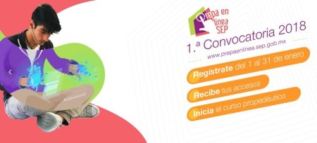 Prepa en línea de la SEP abre inscripciones; 1a convocatoria 2018