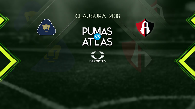 Pumas vs Atlas, Jornada 2 del Clausura 2018 | Resultado: 3-1 - pumas-vs-atlas-televisa-deportes-clausura-2018-j2-800x449