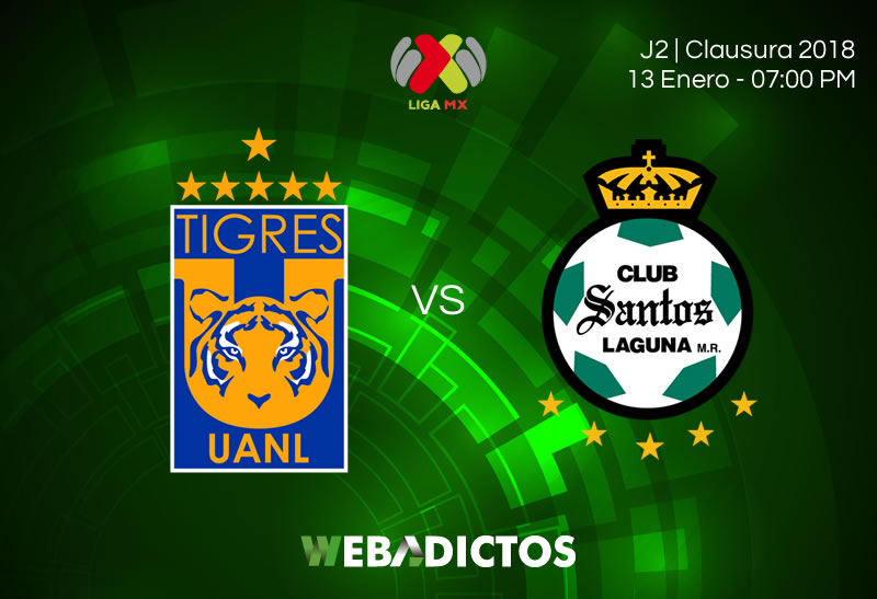 Tigres vs Santos, Fecha 2 del Clausura 2018 | Resultado: 2-1 - tigres-vs-santos-clausura-2018-jornada-2-800x547