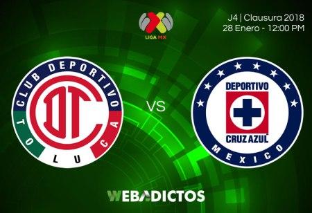 Toluca vs Cruz Azul por internet, J4 Clausura 2018   Resultado: 1-1