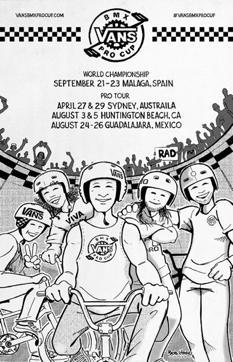 Vans BMX Pro Cup lanza calendario del Tour Mundial 2018 - artwork-por-bob-haro