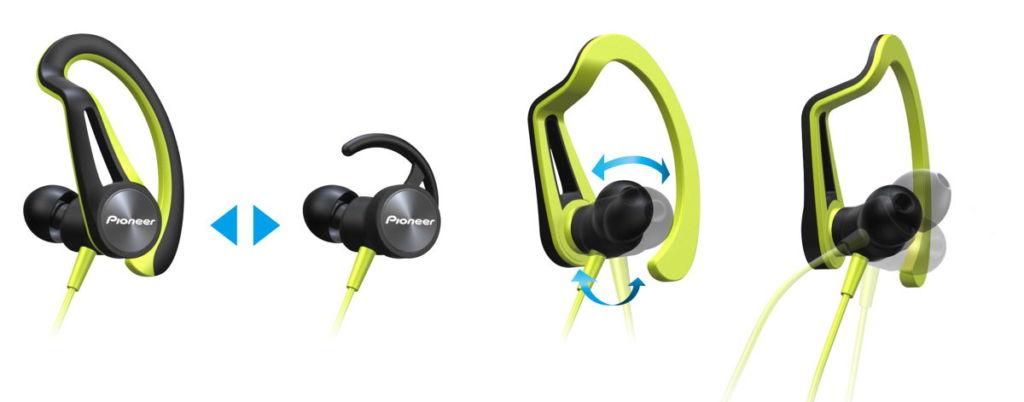 Audífonos deportivos Pioneer, diseño ergonómico y protección contra agua - audifonos-deportivos-pioneer_1