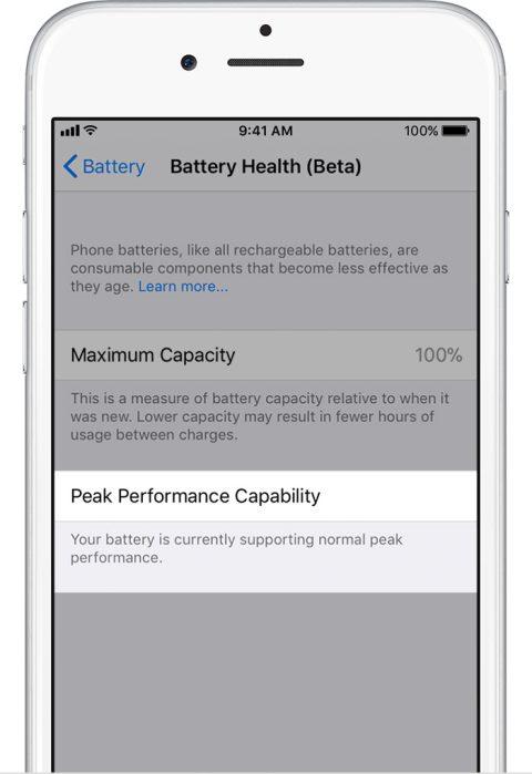 Este es el nuevo monitor de energía en los iPhone, que llega con la segunda beta de iOS 11.3 - battery-good