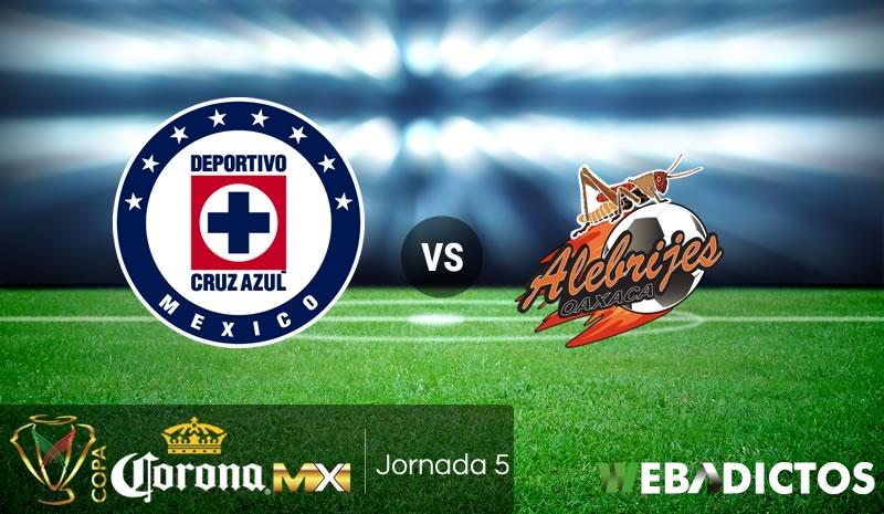 Cruz Azul vs Alebrijes de Oaxaca, Copa MX — Partido en vivo