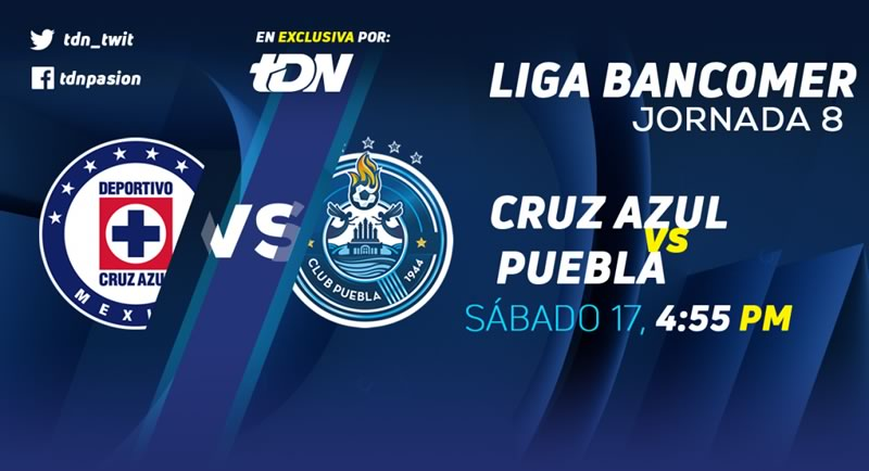Cruz Azul vs Puebla en la J8 del Clausura 2018 ¡En vivo por internet! - cruz-azul-vs-puebla-clausura-2018-tdn