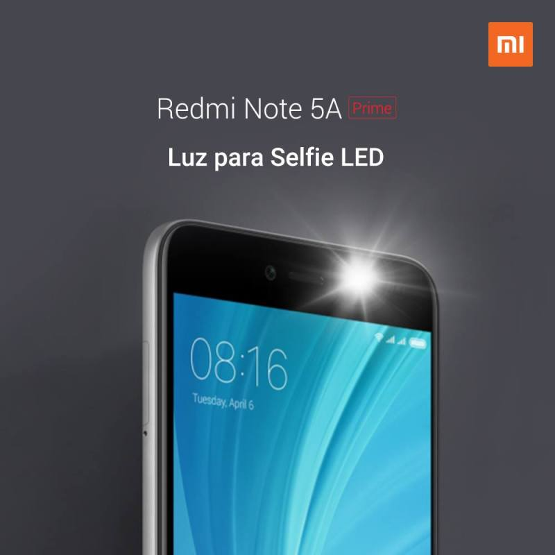 e2808bredmi note 5a prime xiaomi luz 800x800 Gran venta relámpago del Redmi Note 5A Prime en México ¡flash sale!