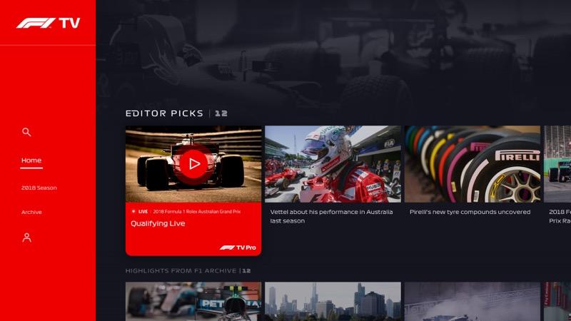 Formula 1 lanza F1 TV, su propio servicio de streaming - f1-tv