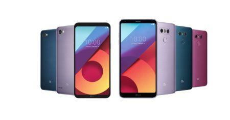Lanzan nuevos colores para los smartphones LG V30, G6 y Q6