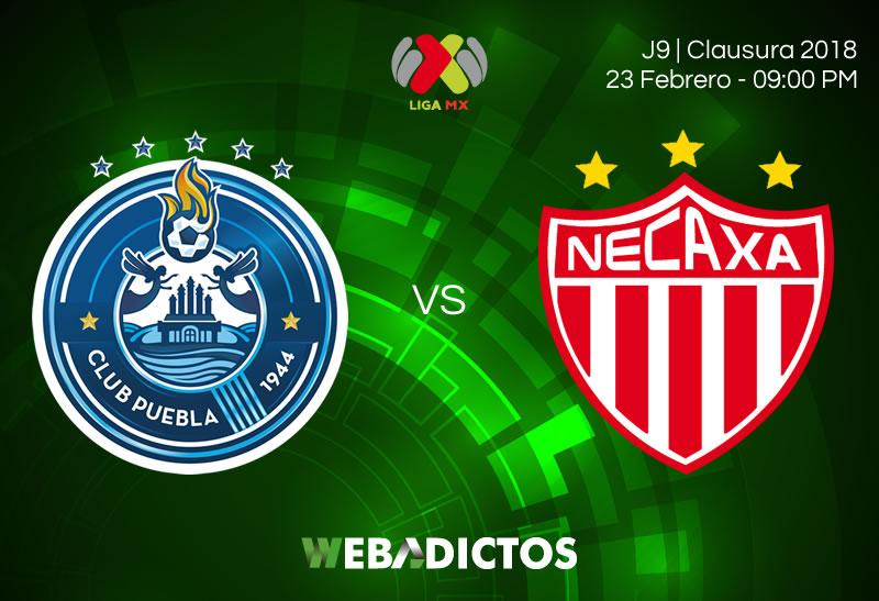 Partido Puebla vs Necaxa este 23 de febrero ¡En vivo por internet! - puebla-vs-necaxa-clausura-2018-j9
