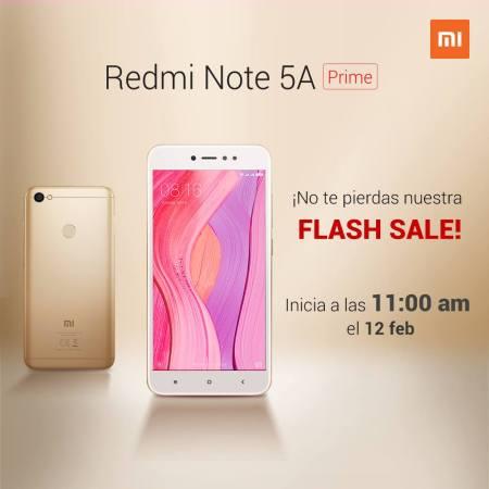 Gran venta relámpago del Redmi Note 5A Prime en México ¡flash sale!
