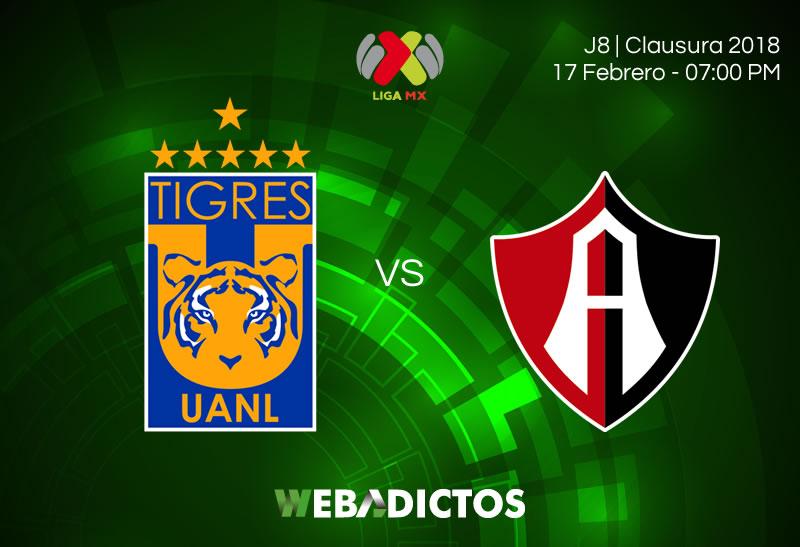 Tigres vs Atlas, Jornada 8 del Clausura 2018 ¡En vivo por internet! - tigres-vs-atlas-clausura-2018-j8