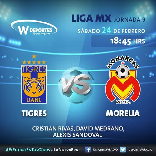 Transmisión de Tigres vs Morelia el 24 de febrero ¡En vivo! - tigres-vs-monarcas-morelia-24-febrero