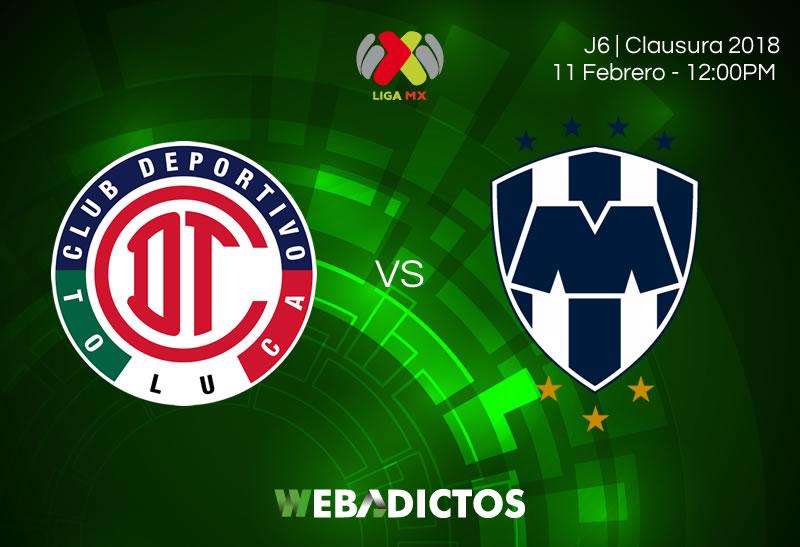 toluca vs monterrey clausura 2018 j6 Toluca vs Monterrey, Jornada 6 Clausura 2018 | Resultado: 2 1