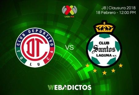 Toluca vs Santos, Jornada 8 de Liga MX C2018 ¡En vivo por internet!