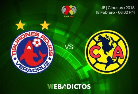 Veracruz vs América, Jornada 8 Liga MX C2018 ¡En vivo por internet!