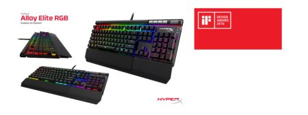 Alloy Elite RGB, teclado para videojuegos HyperX gana premio iF Design Awards 2018