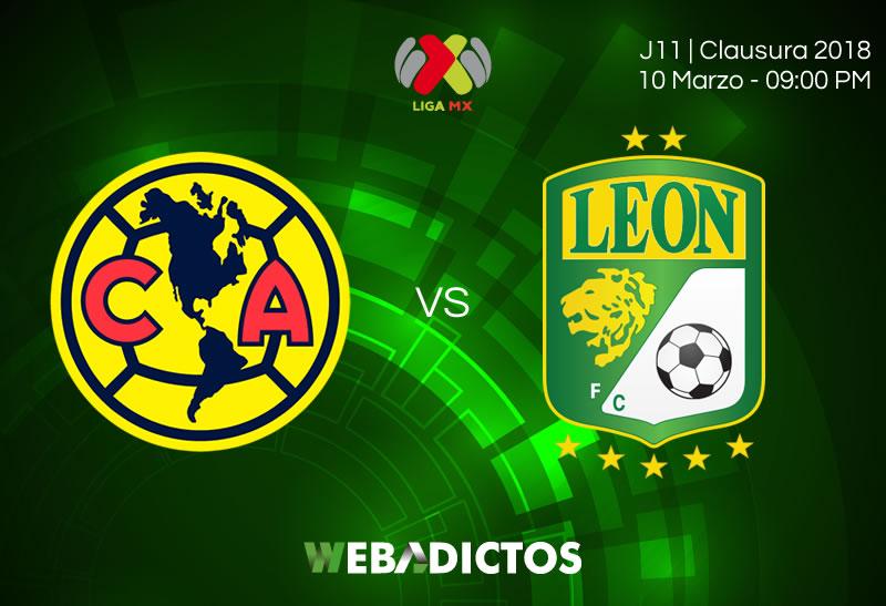 América vs León, Jornada 11 del Clausura 2018 ¡En vivo por internet! - america-vs-leon-clausura-2018-j11