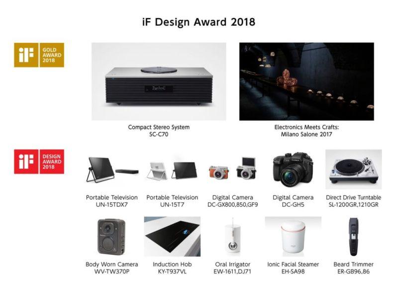 Panasonic gana 12 reconocimientos al Diseño en los Premios iF Design Award 2018 - if_design_2018-800x600