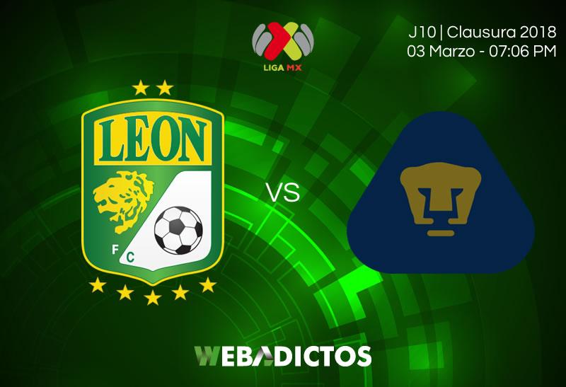 León vs Pumas, Fecha 10 del Clausura 2018 ¡En vivo por internet! - leon-vs-pumas-clausura-2018-j10
