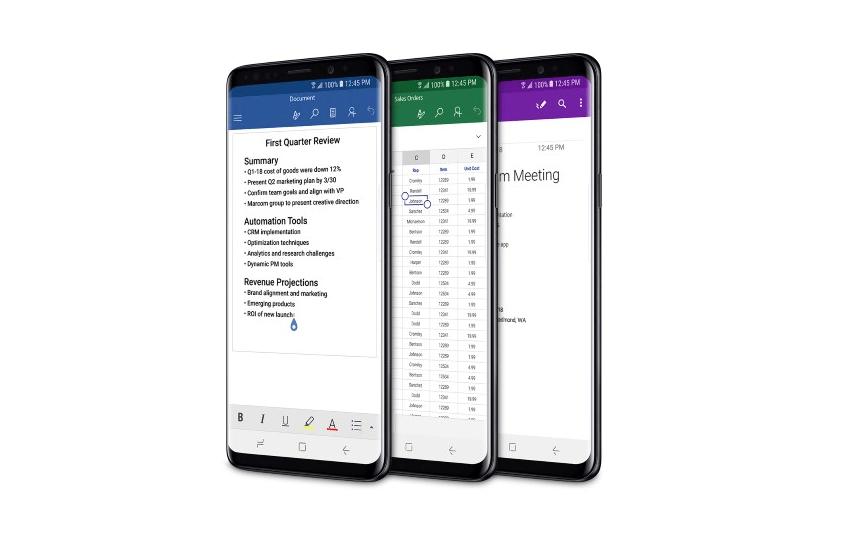 microsoft office mobile s9 Microsoft venderá a los Samsung Galaxy S9 en sus tiendas de Estados Unidos