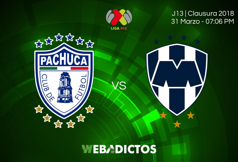 Pachuca vs Monterrey, Jornada 13 de Liga MX C2018 ¡En vivo por internet! - pachuca-vs-monterrey-clausura-2018-jornada-13