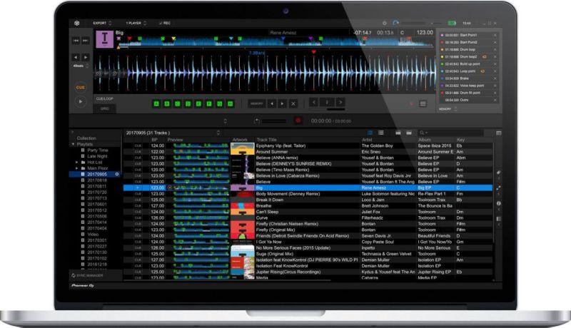 Pioneer DJ galardonado en los iF Design Awards 2018 - rekordbox-5-macbook-pro-800x460