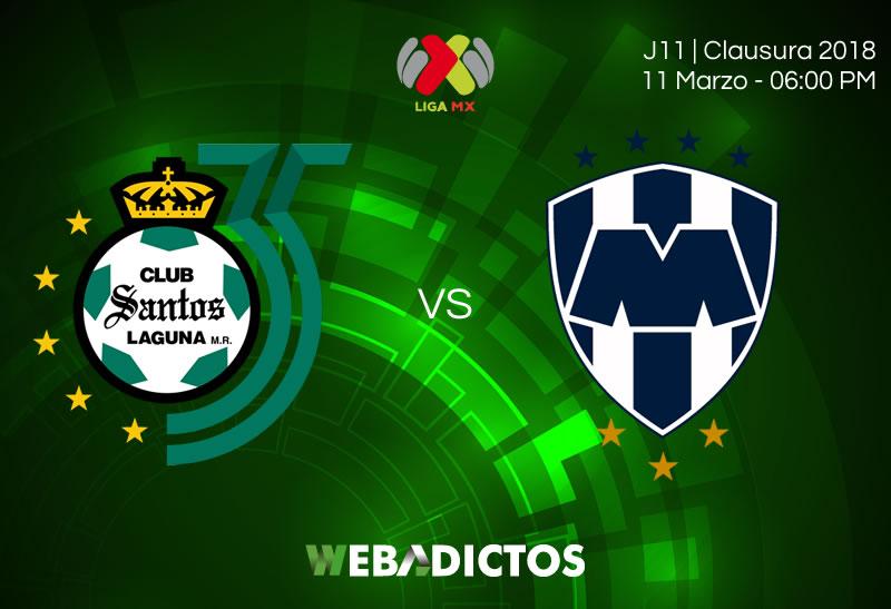 Santos vs Monterrey, Fecha 11 del Clausura 2018 ¡En vivo por internet! - santos-vs-monterrey-clausura-2018-j11