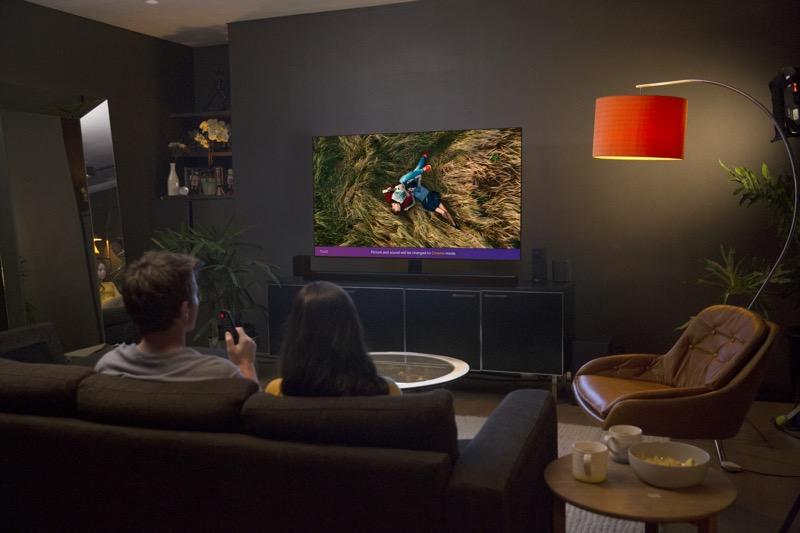 La nueva gama de televisores OLED y SUPER UHD premium de LG 2018 - thinq_cinema-mode-800x533