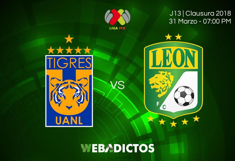 Tigres vs León, J13 del Clausura 2018 ¡En vivo por internet! - tigres-vs-leon-clausura-2018-jornada-13