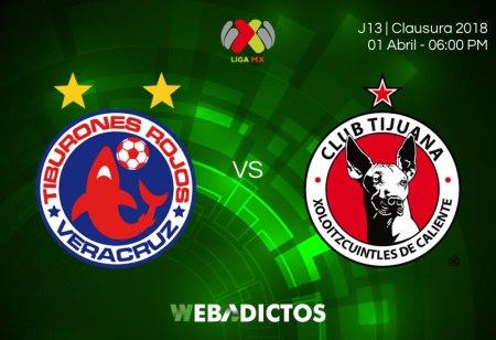 Veracruz vs Tijuana, Fecha 13 del Clausura 2018 ¡En vivo por internet!