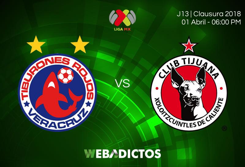 Veracruz vs Tijuana, Fecha 13 del Clausura 2018 ¡En vivo por internet! - veracruz-vs-tijuana-clausura-2018-jornada-13