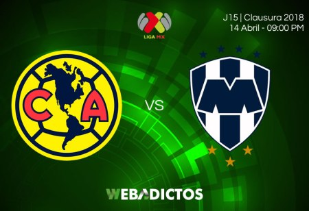 América vs Monterrey, Jornada 15 Clausura 2018 ¡En vivo por internet!