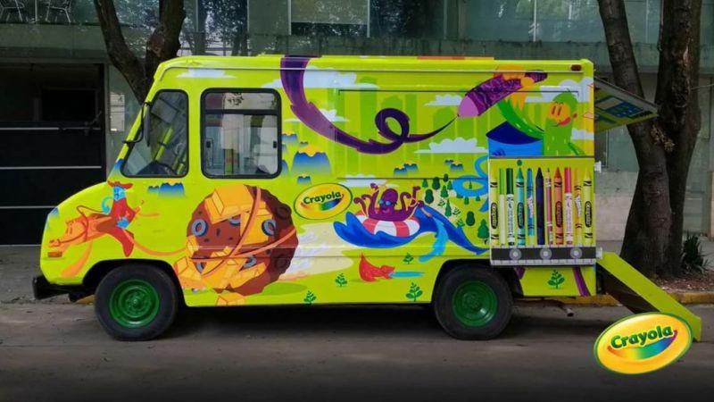 Art Truck: ¿Te imaginas crear obras de arte dentro de un camión? - art-truck-crayola-800x450
