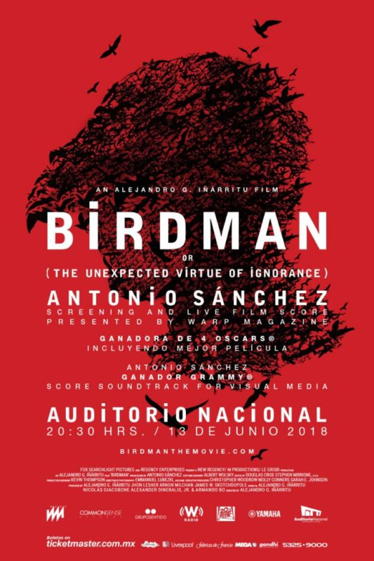 Birdman musicalizada en vivo en el Auditorio CDMX - birdman-533x800