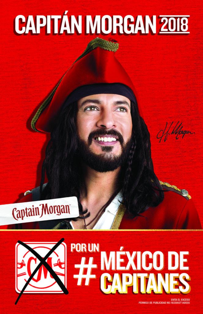 capitan morgan Captain Morgan como candidato a la presidencia de México ¡conoce sus iniciativas!