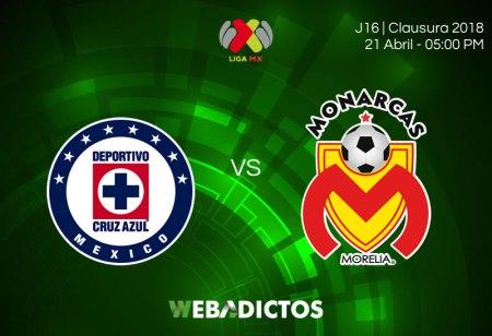 Cruz Azul vs Morelia, Jornada 16 Clausura 2018 ¡En vivo por internet!