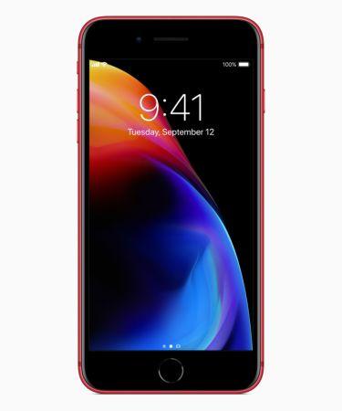 Los iPhone 8 y 8 Plus se visten de rojo en su nueva edición (PRODUCT) RED - iphone8plus-product-red_front_041018