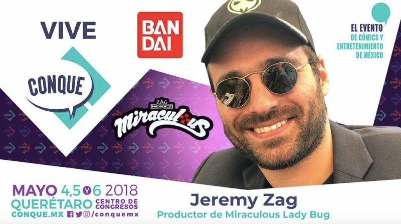 jeremy zag 800x447 Jeremy Zag, creador de Miraculous Ladybug en CONQUE 2018